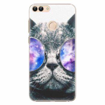 Plastové pouzdro iSaprio - Galaxy Cat - Huawei P Smart