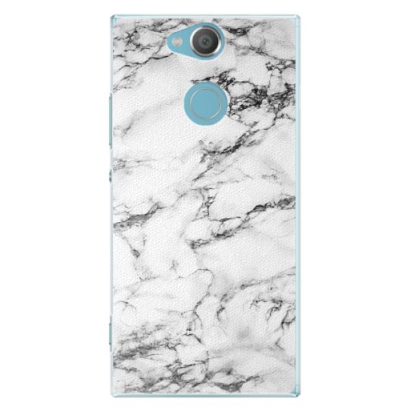 Plastové pouzdro iSaprio - White Marble 01 - Sony Xperia XA2