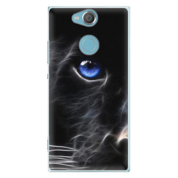 Plastové pouzdro iSaprio - Black Puma - Sony Xperia XA2