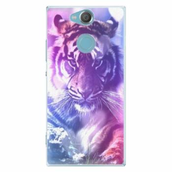 Plastové pouzdro iSaprio - Purple Tiger - Sony Xperia XA2