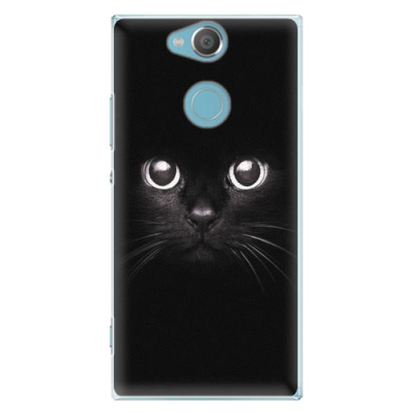 Plastové pouzdro iSaprio - Black Cat - Sony Xperia XA2