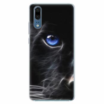 Plastové pouzdro iSaprio - Black Puma - Huawei P20
