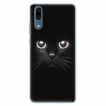 Plastové pouzdro iSaprio - Black Cat - Huawei P20