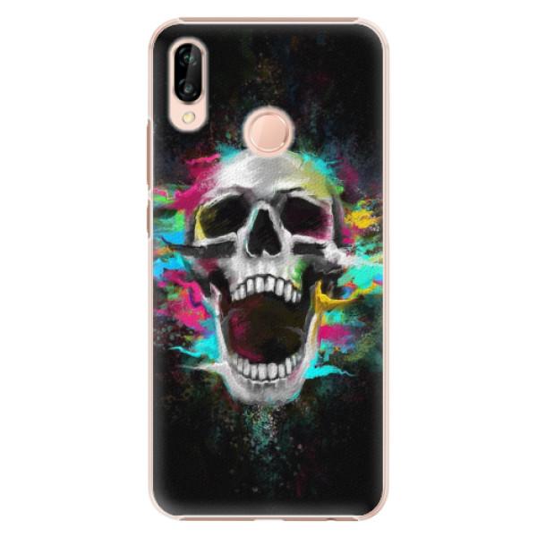 Plastové pouzdro iSaprio - Skull in Colors - Huawei P20 Lite
