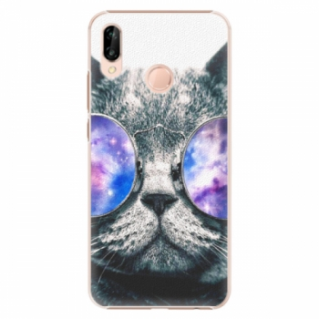 Plastové pouzdro iSaprio - Galaxy Cat - Huawei P20 Lite