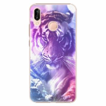 Plastové pouzdro iSaprio - Purple Tiger - Huawei P20 Lite
