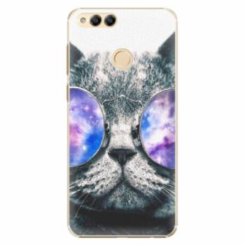 Plastové pouzdro iSaprio - Galaxy Cat - Huawei Honor 7X
