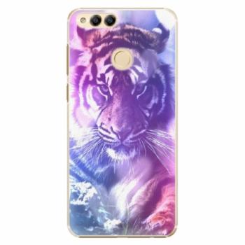Plastové pouzdro iSaprio - Purple Tiger - Huawei Honor 7X