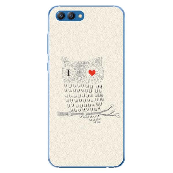 Plastové pouzdro iSaprio - I Love You 01 - Huawei Honor View 10