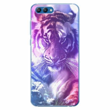 Plastové pouzdro iSaprio - Purple Tiger - Huawei Honor View 10