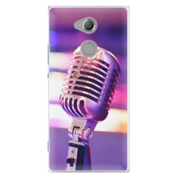 Plastové pouzdro iSaprio - Vintage Microphone - Sony Xperia XA2 Ultra