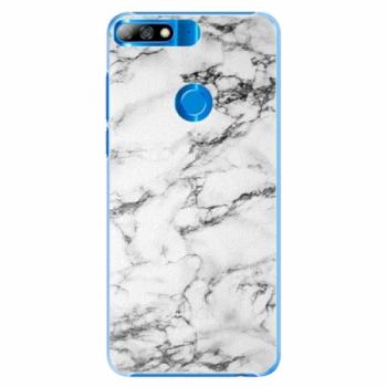 Plastové pouzdro iSaprio - White Marble 01 - Huawei Y7 Prime 2018