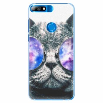 Plastové pouzdro iSaprio - Galaxy Cat - Huawei Y7 Prime 2018