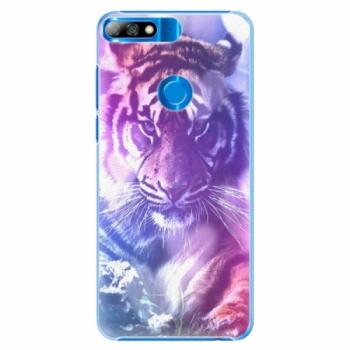 Plastové pouzdro iSaprio - Purple Tiger - Huawei Y7 Prime 2018