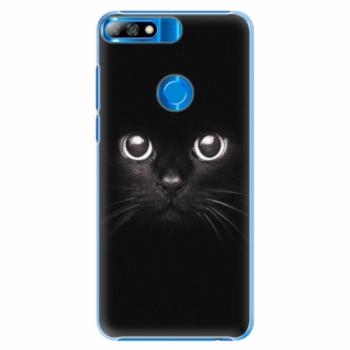 Plastové pouzdro iSaprio - Black Cat - Huawei Y7 Prime 2018