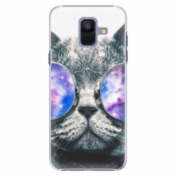 Plastové pouzdro iSaprio - Galaxy Cat - Samsung Galaxy A6