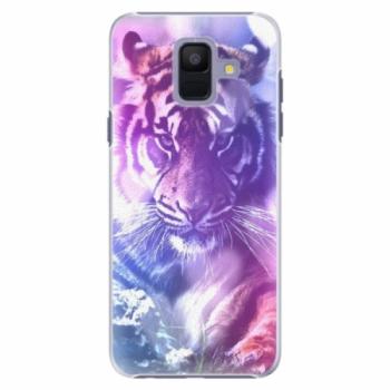 Plastové pouzdro iSaprio - Purple Tiger - Samsung Galaxy A6
