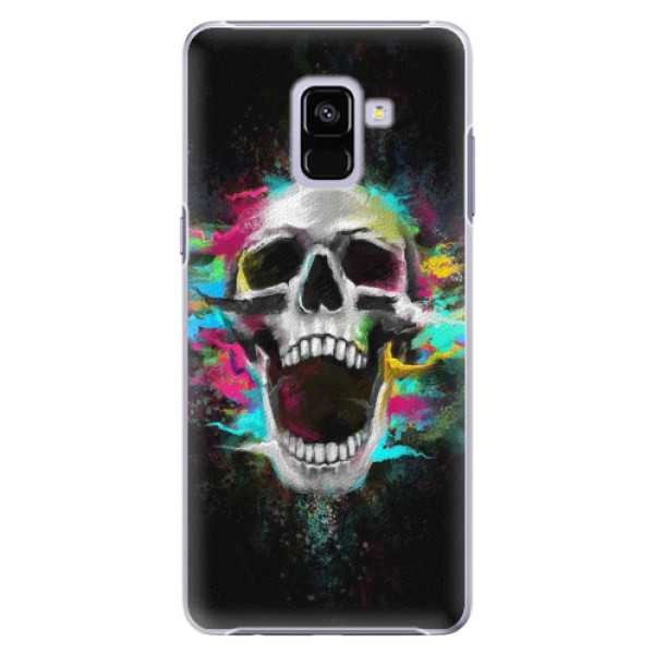 Plastové pouzdro iSaprio - Skull in Colors - Samsung Galaxy A8+