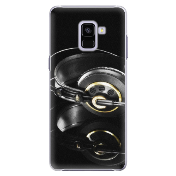 Plastové pouzdro iSaprio - Headphones 02 - Samsung Galaxy A8+