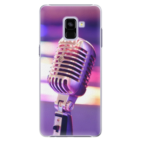 Plastové pouzdro iSaprio - Vintage Microphone - Samsung Galaxy A8+