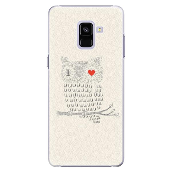 Plastové pouzdro iSaprio - I Love You 01 - Samsung Galaxy A8+