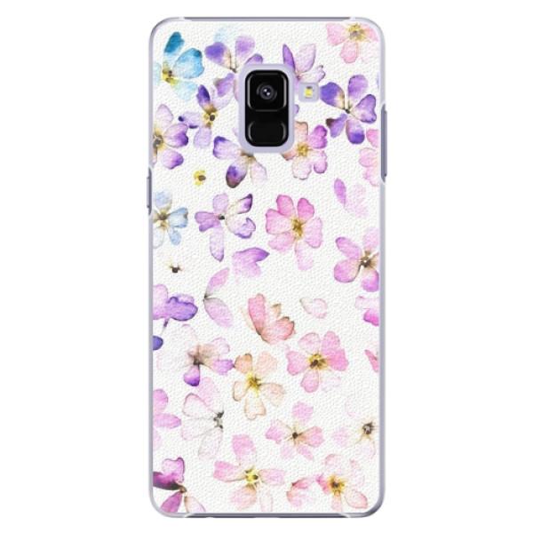 Plastové pouzdro iSaprio - Wildflowers - Samsung Galaxy A8+