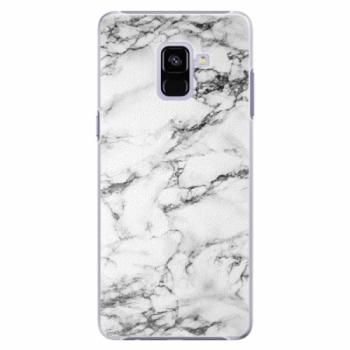 Plastové pouzdro iSaprio - White Marble 01 - Samsung Galaxy A8+