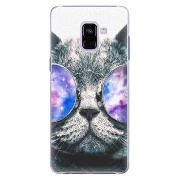 Plastové pouzdro iSaprio - Galaxy Cat - Samsung Galaxy A8+