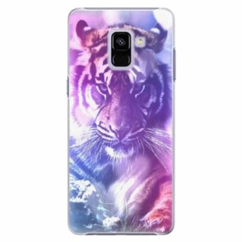 Plastové pouzdro iSaprio - Purple Tiger - Samsung Galaxy A8+
