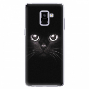 Plastové pouzdro iSaprio - Black Cat - Samsung Galaxy A8+