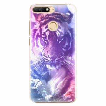 Plastové pouzdro iSaprio - Purple Tiger - Huawei Y6 Prime 2018
