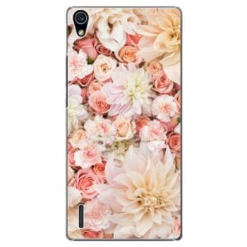 Plastové pouzdro iSaprio - Flower Pattern 06 - Huawei Ascend P7