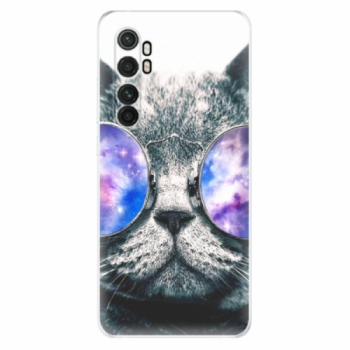 Odolné silikonové pouzdro iSaprio - Galaxy Cat - Xiaomi Mi Note 10 Lite