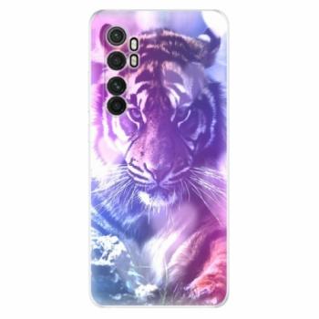 Odolné silikonové pouzdro iSaprio - Purple Tiger - Xiaomi Mi Note 10 Lite
