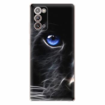 Odolné silikonové pouzdro iSaprio - Black Puma - Samsung Galaxy Note 20