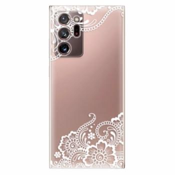 Odolné silikonové pouzdro iSaprio - White Lace 02 - Samsung Galaxy Note 20 Ultra