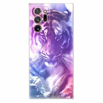 Odolné silikonové pouzdro iSaprio - Purple Tiger - Samsung Galaxy Note 20 Ultra