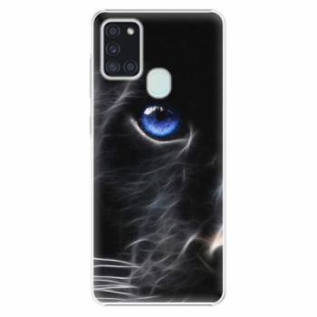 Plastové pouzdro iSaprio - Black Puma - Samsung Galaxy A21s