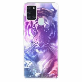 Plastové pouzdro iSaprio - Purple Tiger - Samsung Galaxy A21s