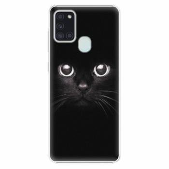 Plastové pouzdro iSaprio - Black Cat - Samsung Galaxy A21s