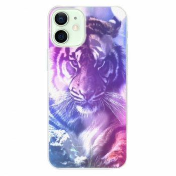 Plastové pouzdro iSaprio - Purple Tiger - iPhone 12 mini