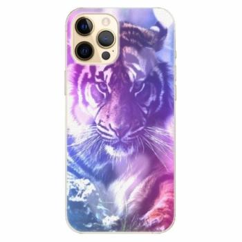 Plastové pouzdro iSaprio - Purple Tiger - iPhone 12 Pro Max