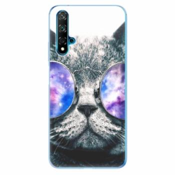 Odolné silikonové pouzdro iSaprio - Galaxy Cat - Huawei Nova 5T