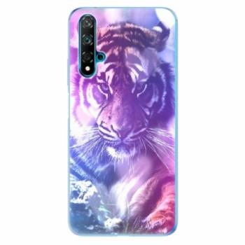 Odolné silikonové pouzdro iSaprio - Purple Tiger - Huawei Nova 5T