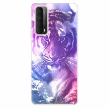 Odolné silikonové pouzdro iSaprio - Purple Tiger - Huawei P Smart 2021