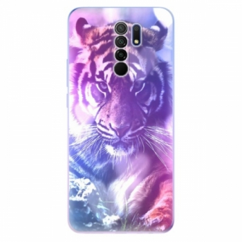 Odolné silikonové pouzdro iSaprio - Purple Tiger - Xiaomi Redmi 9