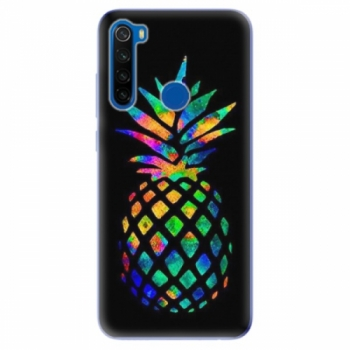 Odolné silikonové pouzdro iSaprio - Rainbow Pineapple - Xiaomi Redmi Note 8T