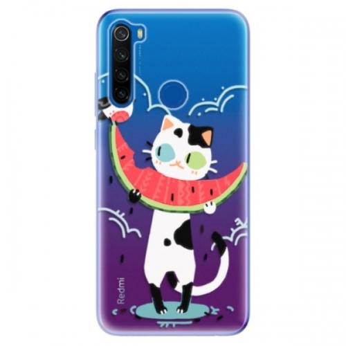 Odolné silikonové pouzdro iSaprio - Cat with melon - Xiaomi Redmi Note 8T