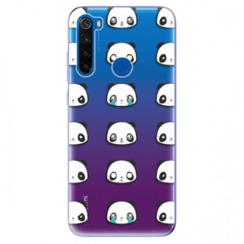 Odolné silikonové pouzdro iSaprio - Panda pattern 01 - Xiaomi Redmi Note 8T
