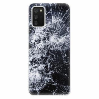 Odolné silikonové pouzdro iSaprio - Cracked - Samsung Galaxy A02s